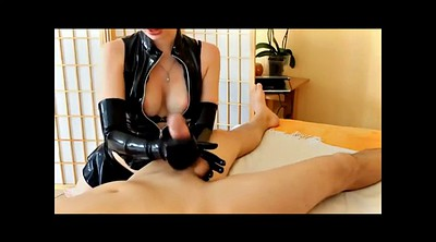 Gloves, Glove, Femdom handjob, Latex gloves, Latex glove