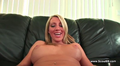 Couple threesome, First casting, Casting creampie, Young creampie, German threesome, Creampie casting