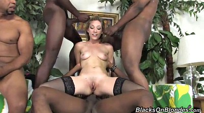 Shaved, Interracial gangbang