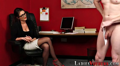 Office pantyhose, Watched, Pantyhose office