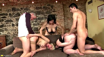 Mature son, Old mom, Young son, Mom seduce son