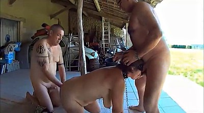 Slave, Whip, Post, Mature bondage