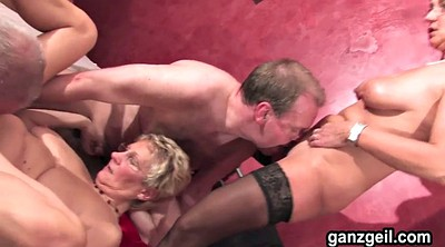 German granny, German threesome, Granny blowjobs, Busty german