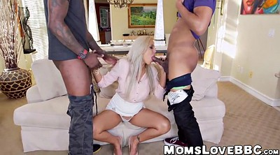 Monster cock, Nina elle, Monster milf, Interracial threesome