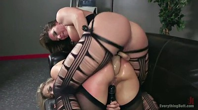 Strapon, Gape, Thick ass, Mature lesbian strapon, Mature fisting, Mature ass