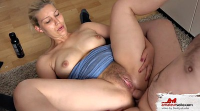 Hairy anal, Blonde