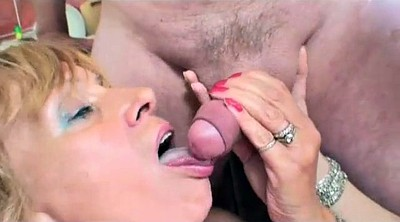 Mature threesome, Hairy old