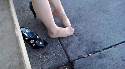 Pantyhose feet, Pantyhose foot, Feet up