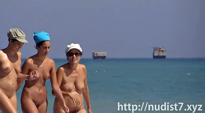 Beach, Nude beach, Caught, Spy cam, Spying
