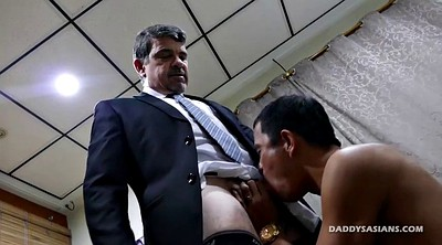 Office, Asian old, Old couple, Asian ass, Old and young, Asian daddy