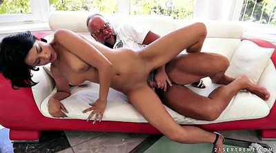Old man, Riding orgasm, Granny handjob, Coco