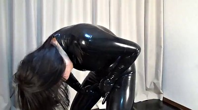 Latex, Japanese black, Catsuit, Black japanese, Asian latex