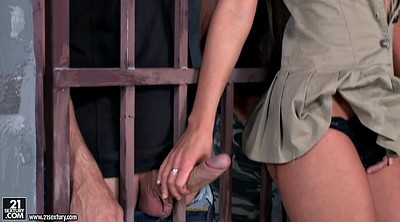Prison, Jerking, Russian blonde, Angie