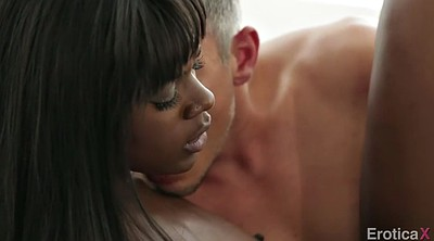 Handjob, Interracial creampie, Ebony creampie, White guy, White ass, Skin