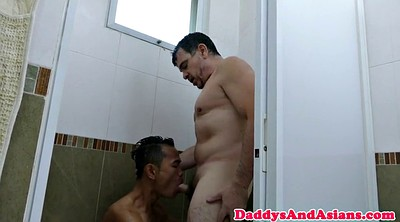Skinny, Bear, Showering, Old young gay