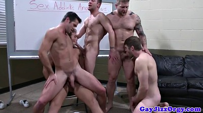 Ass to mouth, Gay orgy, Hard suck
