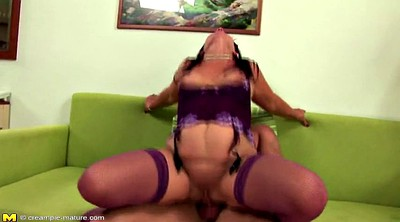 Granny creampie, Old and young, Old mom, Mom creampie