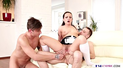 Maid, Mmf, Double penetration, Maid anal, Babe anal, Mmf threesome