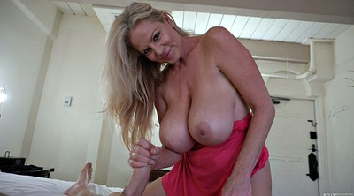 Old mom, Breast, Big mom, Mom handjob, Blonde milf, Big breast