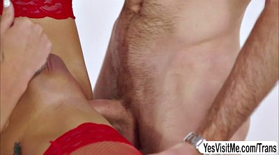 Blonde, Shemale cock