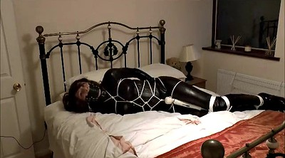 Latex, Bondage-orgasm, Bound