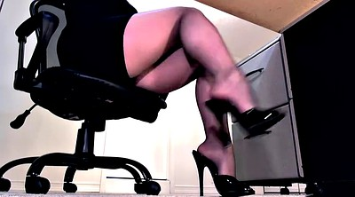 Pantyhose footjob, Pantyhose feet, High, Pantyhose foot