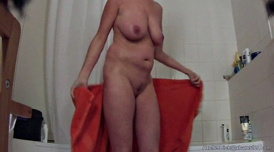 Tit, Saggy tits, Hidden shower, Big nipples