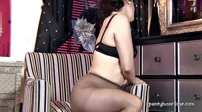 Nylon, Solo milf, In pantyhose, Nylon fetish, High heels solo