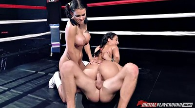 Boxing, Ring, Pigtails, Pigtail, Asian big tits