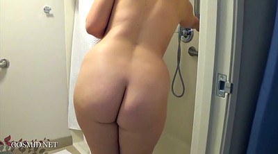 Bathing, White, Mature shower