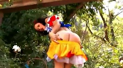 Cosplay, Brunette, Woods, Snow white