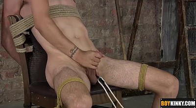Blindfold, Tied to chair, Tied handjob