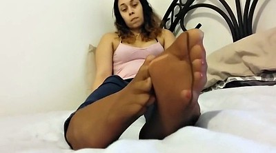 Nylon foot, Pantyhose tease