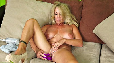 Mature masturbation, Blonde milf