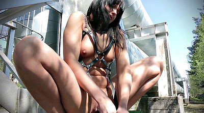 Pussy close up, Chain, Black hair, Pussy tease, Chains