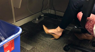 Hidden cam, Shoeplay, Candid, Hidden office