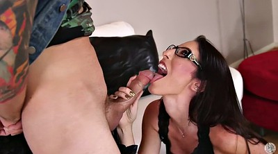 Glasses, Glass, Mature mom, Mom blowjob