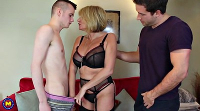 Mature, Young mother, Milf son