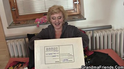 Granny, Thin, Two matures, Woman, Delivery