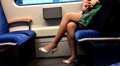 German, Legs, Milf nylon, Peep, Nylon fetish, Peeping
