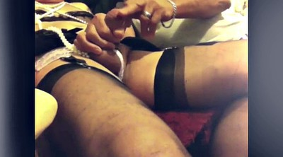 Nylon, Sperm, Black stocking