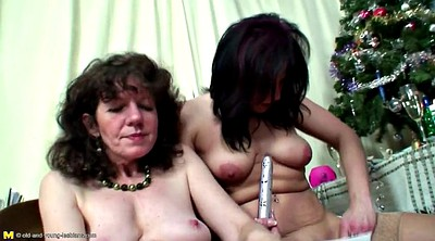 Granny, Mom daughter, Mom lesbian, Young daughter, Old and young lesbians, Mom fuck