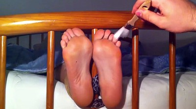 Tickle, Nylon foot, Nylon feet, Tickle feet, Tickling feet