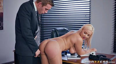 Boss, Secretary, Rip, Office pantyhose, Kylie page