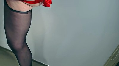 Heels, Stocking, Nylon handjob