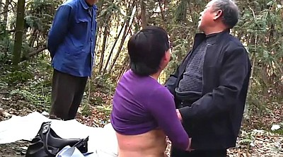 Asian granny, Asian mature, Forest