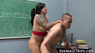 Rimming, Shemale busty
