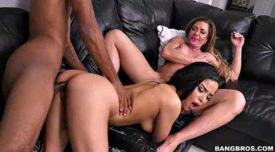 Threesome, Ebony milf, Teen big cock, Latina bbc, Black cumshot