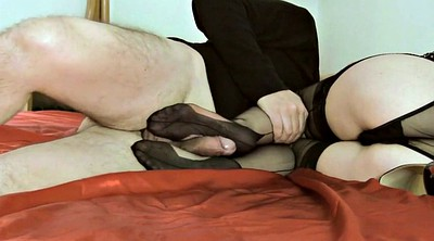 Mature foot, Footjob pantyhose