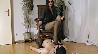 Mistress, Slaves, Asian solo, Asian smoking, Latex mistress, Dominated